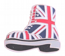 Union Jack Flag Doc Martens Boot Punk Pin Badge - T1244